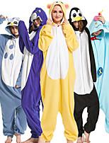cheap -Adults' Kigurumi Pajamas Shark Onesie Pajamas Flannel Fabric Black / White / White / Black Cosplay For Men and Women Animal Sleepwear Cartoon Festival / Holiday Costumes