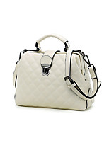 cheap -Women's Chain PU Leather / Polyester Top Handle Bag Leather Bags Solid Color Wine / White / Black / Fall & Winter