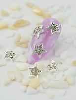 Недорогие -10 шт. 3d звезда форма серебряный сплав ногтей искусство подвески стразы маникюр 3d украшения искусства ногтя