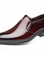 cheap -Men's Summer Casual Daily Loafers & Slip-Ons PU Non-slipping Wine / Black