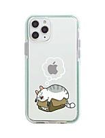 Недорогие -Кейс для Назначение Apple iPhone 11 / iPhone 11 Pro / iPhone 11 Pro Max С узором Кейс на заднюю панель Прозрачный / Мультипликация ТПУ