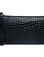 cheap -Women's PU Clutch Solid Color Black