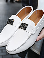cheap -Men's Spring & Summer / Fall & Winter Casual / British Daily Office & Career Loafers & Slip-Ons Walking Shoes Nappa Leather White / Black