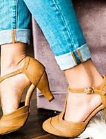 cheap -Women's Heels Spring & Summer Chunky Heel Pointed Toe Daily PU Black / Yellow / Beige