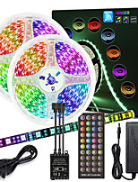 cheap -ZDM 10M(2*5M)  High-Quality Black PCB Music Timing Synchronous Control Flexible Light Bar 600 x 5050 Waterproof RGB LED Strip Light and IR 40 Key Controller with12V 6A Adapter Kit
