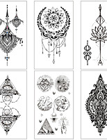 cheap -6 pcs tattoo designs Temporary Tattoos Water Resistant / Waterproof / Mini Style / Safety Face / Body / Hand Water-Transfer Sticker Body Painting Colors
