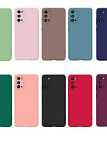 cheap -Case For Samsung s20 S20PLUS A41 M30 NOTTE 8PRO  simple candy color TPU material ultra-thin lubricated feel mobile phone case