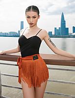 cheap -Latin Dance Vest Ruching Women's Performance Sleeveless Knit