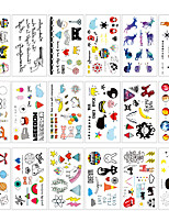 cheap -18 pcs Temporary Tattoos Water Resistant / Waterproof / Mini Style / Safety Face / Body / Hand Water-Transfer Sticker Body Painting Colors