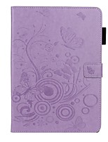 cheap -Case For Apple iPad 10.2 /Pro 11 2020/Mini 3/2/1/4/5 Card Holder / with Stand / Embossed Full Body Cases Butterfly / Solid Colored PU Leather For iPad New Air 10.5 2019/iPad 4/3/2/2017/2018