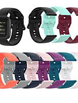 Недорогие -ремешок для часов для fitbit blaze / fitbit наоборот / fitbit versa lite fitbit sport band силиконовый ремешок на запястье