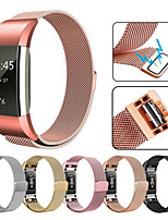 cheap -For Fitbit Charge2 Milan Strap With 316L Stainless Steel Milan Ring Replacement Wristband