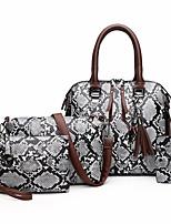 cheap -Women's Zipper PU Leather Bag Set Bag Sets Snakeskin 4 Pieces Purse Set Blue / Red / Khaki / Fall & Winter