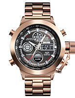 cheap -SKMEI Men's Steel Band Watches Digital Modern Style Sporty Stainless Steel Black / Silver / Rose Gold 30 m Military Calendar / date / day Chronograph Analog - Digital Outdoor Fashion - Golden / Brown