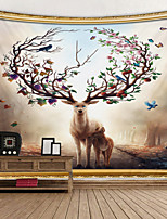 cheap -Sika deer digital printing tapestry Decor Wall Art Tablecloths Bedspread Picnic Blanket Beach Throw Tapestries Colorful Bedroom Hall Dorm Living Room Hanging