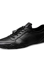 cheap -Men's Fall / Spring & Summer Casual / British Daily Party & Evening Oxfords Nappa Leather Breathable Non-slipping Wear Proof Black