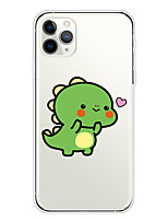 cheap -Case For Apple iPhone 11/11 Pro/11 Pro Max/XS/XR/XS Max/8 Plus/7 Plus/6S Plus/8/7/6/6s/SE/5/5S Transparent Pattern Back Cover Green Dinosaur Soft TPU