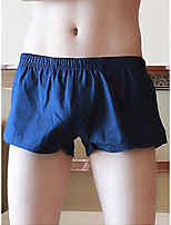cheap -Men's Basic Boxers Underwear - Normal Low Waist Light Blue Red Yellow M L XL