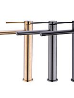 cheap -Lengthen 15cm Long Outlet Art Basin Faucet Gun Gray Matt Black Golden Bathroom Counter Basin Countertop Sink Faucets Mix Tap MS11-L