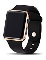 Недорогие -Муж. электронные часы Цифровой Стильные силиконовый Черный ЖК экран Крупный циферблат Цифровой Классика На каждый день - Коричневый+Золотой Черный Синий Один год Срок службы батареи