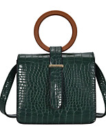 cheap -Women's PU Leather / Polyester Top Handle Bag Leather Bags Solid Color Black / Green / Brown / Fall & Winter
