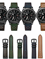 cheap -Watch Band for Samsung Galaxy Watch 46mm / Samsung Galaxy Watch 42mm / Huawei Watch GT 2 Samsung Galaxy Classic Buckle / Business Band Genuine Leather Wrist Strap