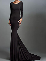 cheap -Mermaid / Trumpet Beautiful Back Reformation Amante Engagement Formal Evening Dress Jewel Neck Long Sleeve Sweep / Brush Train Spandex with Sleek 2020