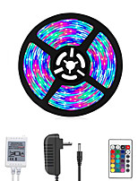 Недорогие -Loende 5м светодиодные полосы RGB TIKTOCK светильники 270 светодиодов не водонепроницаемый непромокаемые гибкие изменения цвета SMD 2835 светодиодные полосы комплект с 24