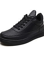 cheap -Men's Fall / Spring & Summer Daily Outdoor Sneakers Running Shoes / Walking Shoes Mesh Breathable Non-slipping Shock Absorbing White / Black