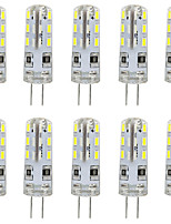 cheap -10pcs G4 LED Bulb Bi-Pin Base Lampe Spot 3014 SMD 24 LEDs 20W Halogen Bulb Equivalent 1.5W Pour Maison 360 Degree White Warm White