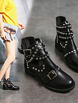 cheap -Women's Boots Fall & Winter Chunky Heel Round Toe Daily PU Mid-Calf Boots Black