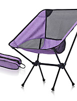 cheap -Camping Chair Portable Foldable Washable Comfortable Aluminum Alloy for 1 person Fishing Beach Camping / Hiking / Caving Traveling Autumn / Fall Summer Purple Red Blue Dark Gray