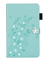 cheap -Case For Apple iPad 10.2 /Pro 11 2020/Mini 3/2/1/4/5 Card Holder / Rhinestone / with Stand Full Body Cases Solid Colored / Glitter Shine / Flower PU Leather For iPad New Air 10.5 2019/iPad 4/3/2