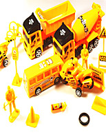 cheap -1:25 Plastic Truck Construction Truck Set Asphalt Paver Toy Truck Construction Vehicle Simulation Unisex Kids Car Toys