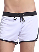 cheap -Men's Basic Boxers Underwear - Normal Low Waist White Black Blue S M L