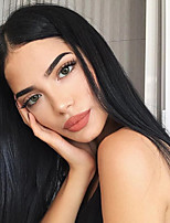 cheap -Synthetic Lace Front Wig Straight Gaga Middle Part Lace Front Wig Long Black#1B Synthetic Hair 22-26 inch Women's Heat Resistant Women Hot Sale Black / Glueless