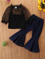 cheap -Toddler Boys' Basic Casual Print Long Sleeve Regular Regular Clothing Set Black