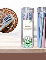 Недорогие -8 шт. Семейный костюм зубная щетка мягкий бамбуковый уголь для взрослых cleancare десны тонкие волосы дома унисекс здоровые зубы щетки для чистки