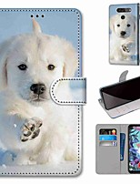 cheap -Case For LG Q70 / LG K50S / LG K40S Wallet / Card Holder / with Stand Full Body Cases Snow Dog PU Leather / TPU for LG K30 2019 / LG K20 2019