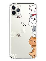cheap -Case For Apple iPhone 11/11 Pro/11 Pro Max/XS/XR/XS Max/8 Plus/7 Plus/6S Plus/8/7/6/6s/SE/5/5S Transparent Pattern Back Cover Cute Cat Soft TPU