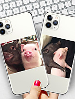 cheap -Case For Apple iPhone 11/11 Pro/11 Pro Max/XS/XR/XS Max/8 Plus/7 Plus/6S Plus/8/7/6/6s/SE/5/5S Transparent Pattern Back Cover Lovers pig Soft TPU