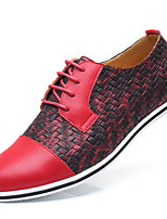 cheap -Men's Summer / Fall Classic / Casual Daily Office & Career Sneakers Faux Leather Non-slipping Wear Proof Black / Yellow / Red