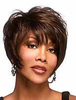 cheap -Synthetic Wig Curly Matte Pixie Cut Wig Short Light Brown Synthetic Hair 6 inch Women's Cool curling Fluffy Brown