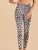 cheap -Women's Basic Legging - Leopard, Print Mid Waist Brown S M L
