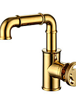 cheap -Kitchen faucet - Single Handle One Hole Electroplated Standard Spout Other Antique Kitchen Taps