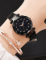 cheap -Women's Quartz Watches Classic Casual Alloy Chinese Quartz Rose Gold White+Coffee Black Casual Watch Imitation Diamond Lovely 30 m 2 Piece Analog One Year Battery Life