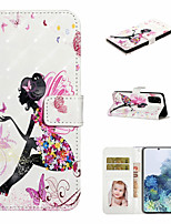 cheap -Case For Samsung Galaxy S20 Ultra S20 Plus Phone Case PU Leather Material 3D Painted Pattern Phone Case for S20 S10 Plus S10 S9 Plus S9 S8 Plus S8