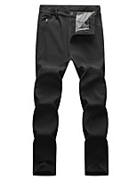 cheap -Men's Hiking Pants Hiking Cargo Pants Winter Outdoor Standard Fit Breathable Warm Comfortable Thick Pants / Trousers Bottoms Camping / Hiking Hunting Fishing Dark Grey Black Dark Blue M L XL XXL XXXL