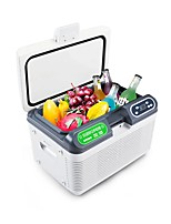 cheap -12L AC220V DC12-24V 68W Car Refrigerator Double Freeze or Heating Mini fridge