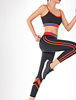 cheap -Women's 2pcs Tracksuit Yoga Suit Fashion Black Red Blue Running Fitness Gym Workout High Waist Tights Leggings Bra Top Sport Activewear Breathable Tummy Control Butt Lift Moisture Wicking Stretchy